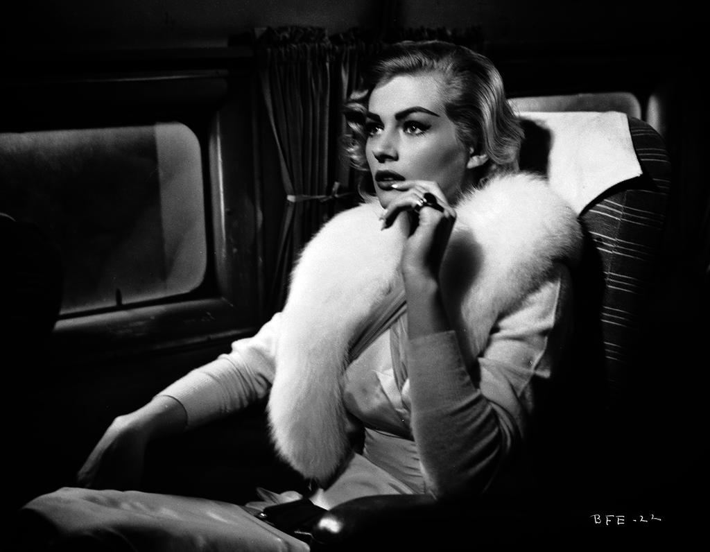 Anita Ekberg flies with style in Back From Eternity (1956)