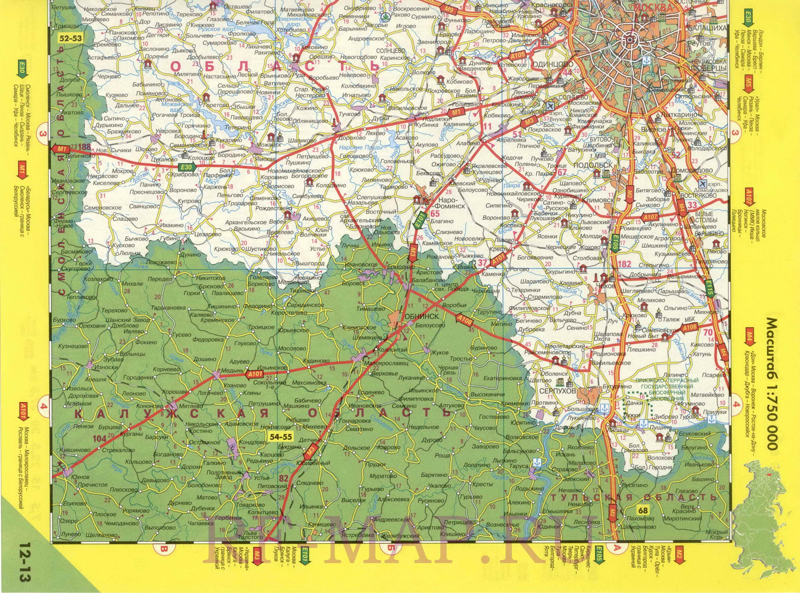 Географические карты в pdf