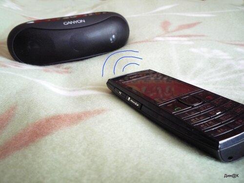 Nokia X2-02 (передача музыки по радиоволне)