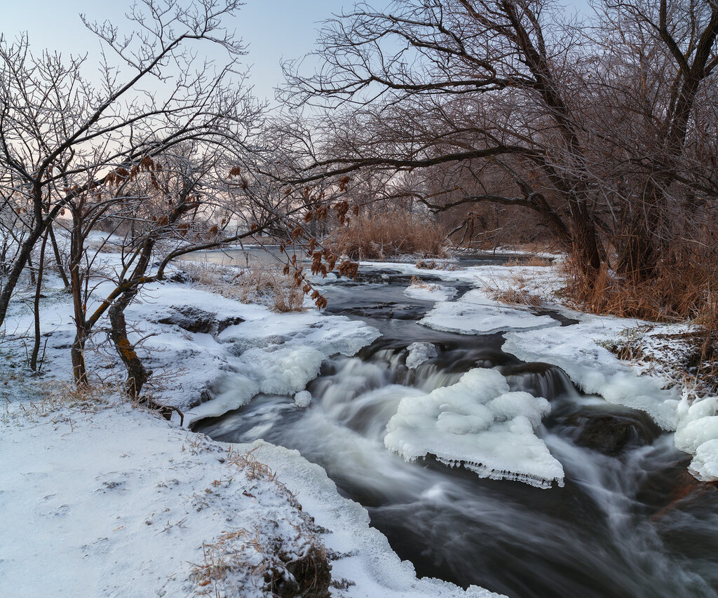 Закат на реке Крынка