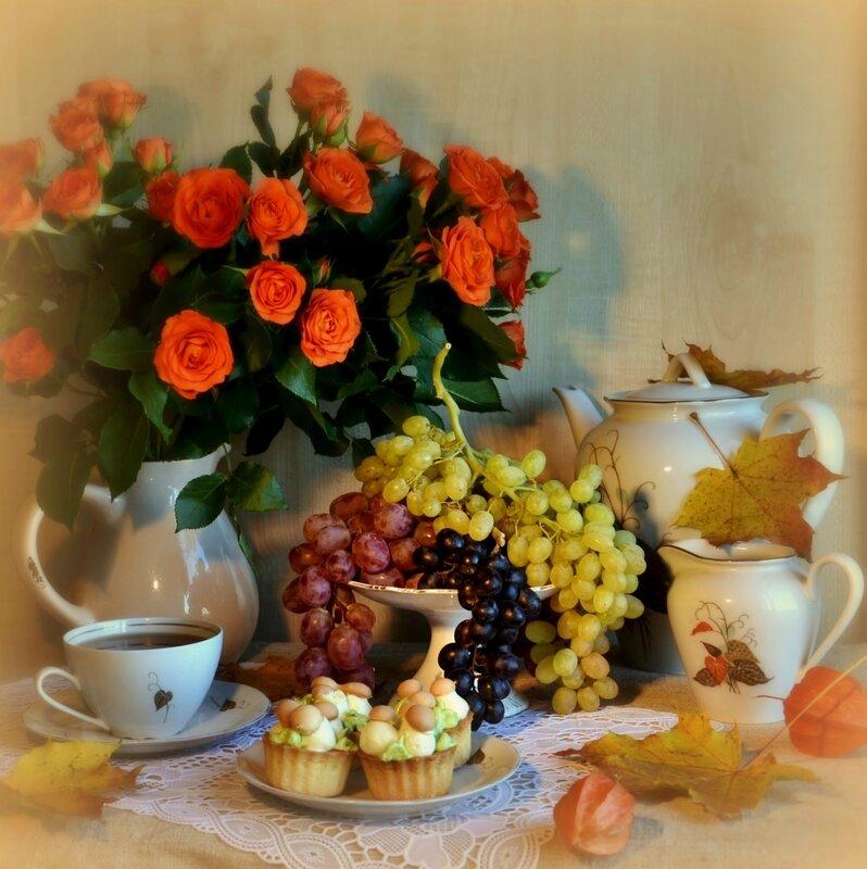 Открытки доброго осеннего вечера пятницы