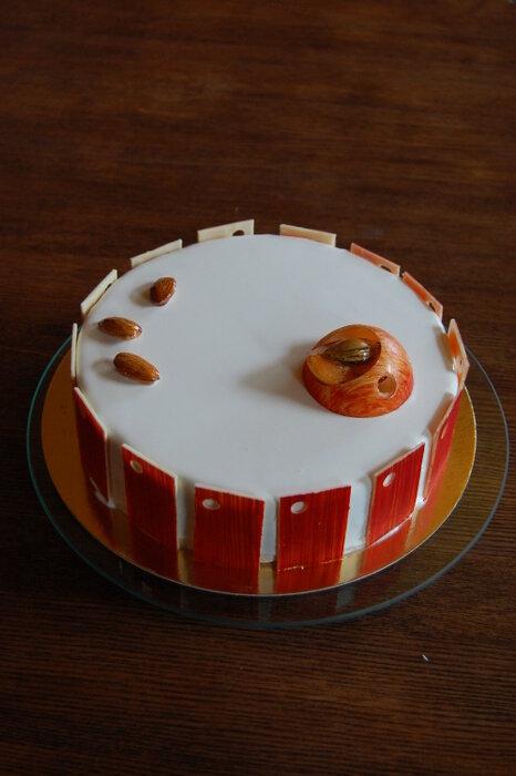 торт миндаль абрикос