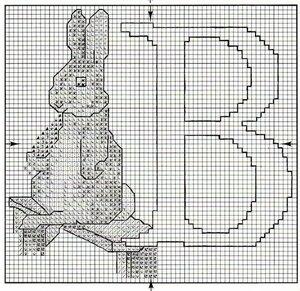 Схема вышивки британец обозначения цветов 43