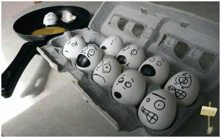 Обычные яйца и чуть-чуть фантазии