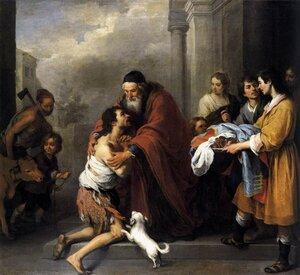 Возвращение блудного сына. Бартоломео Мурильо 1667-1670