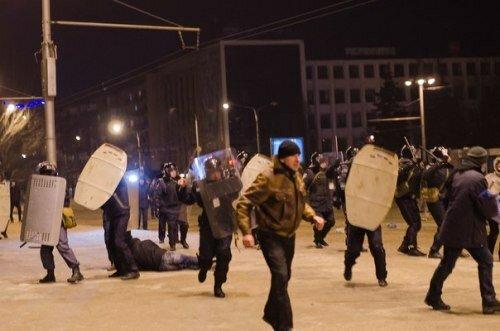 Официально: милиция задержала около 50-ти участников запорожского Евромайдана
