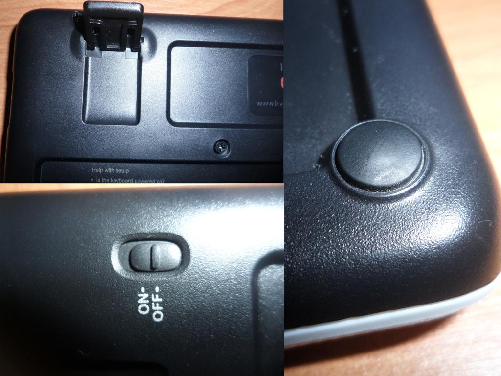 Нижняя часть клавиатуры Ножки и переключатель включения