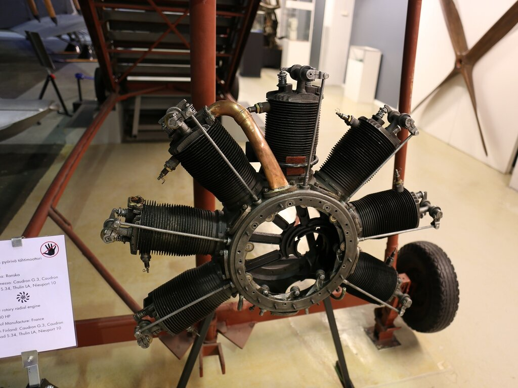 Aircraft engine Le Rhône 9C (Finnish aviation Museum in Vantaa)