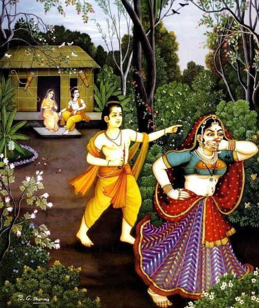 РАМА ЛИЛА - божественная история (Лакшман отвергает страшную ракшаси Шурпанакху)