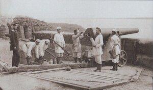 Русская батарея на позиции у Корабии. Румынский берег, июнь 1877