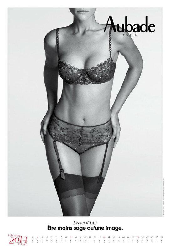 Календарь Aubade lingerie 2014