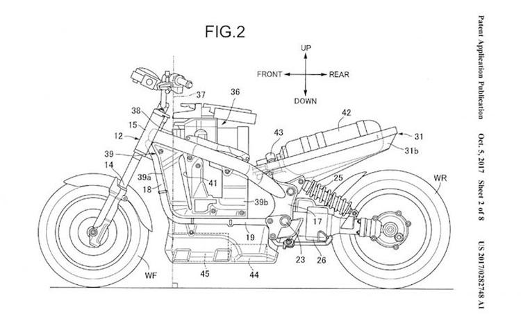 Компания Honda патентует мотоцикл с топливным элементом