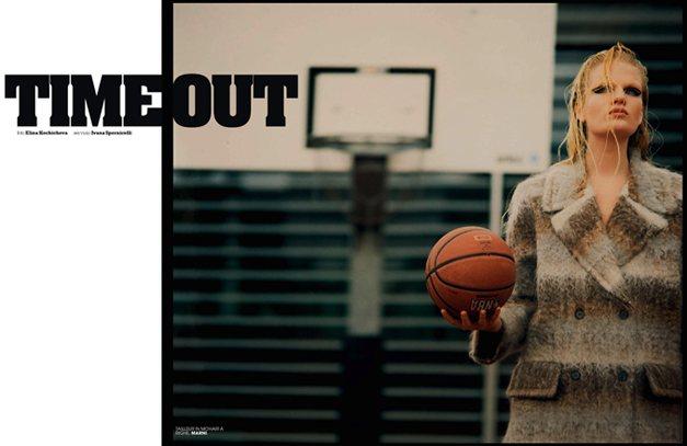Баскетбольный тайм-аут - Элеонора Бауманн / Eleonora Baumann by Elina Kechicheva in Marie Claire Italia october 2013