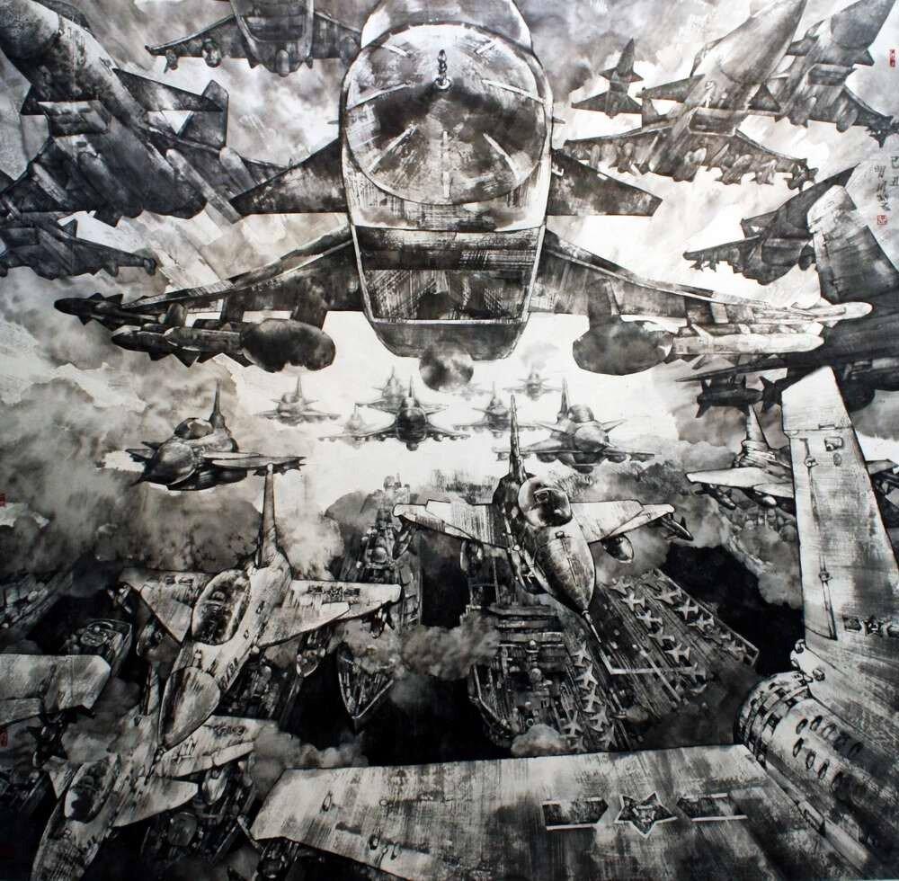 Самолеты военно-воздушных сил (Zhou Xiao Sheng)