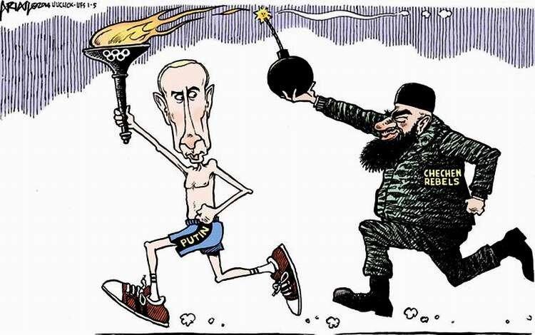 Олимпийские зарисовки. Часть 4: Олимпиада в Сочи - 60 ... Карикатуры На Путина Елкин