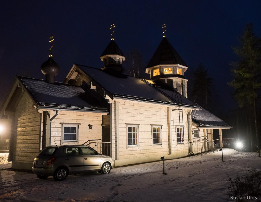 Хай-тек колокола в православной церкви в Финляндии