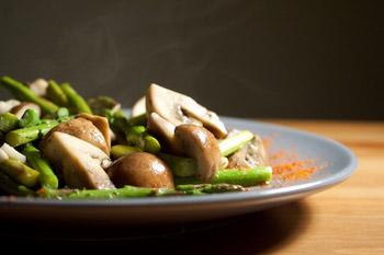 Asparagus and Cremini Mushroom Tapas