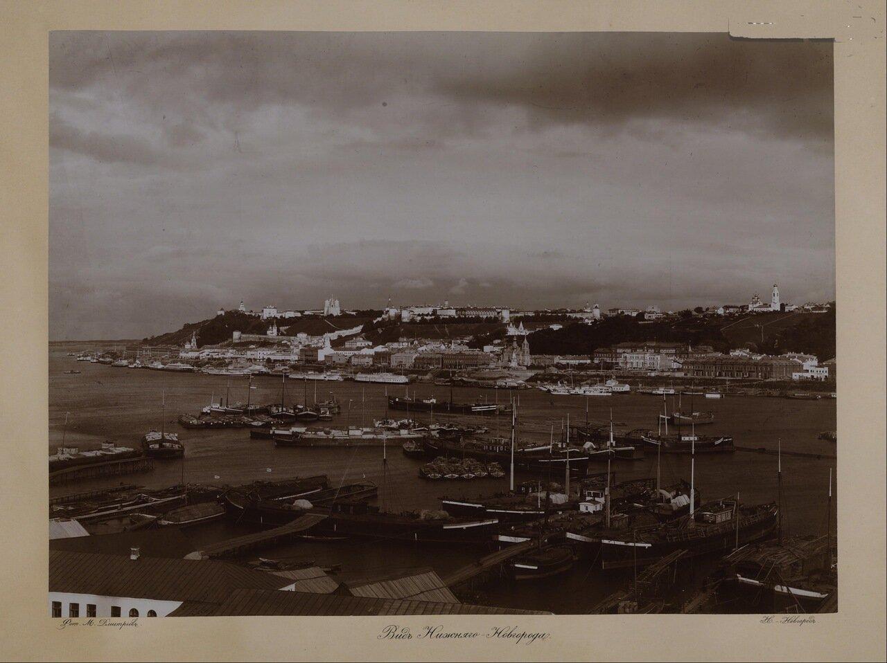 Волжские виды. Вид Нижнего Новгорода. 1890-е