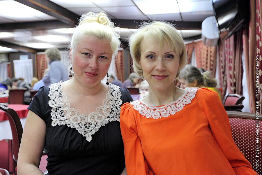 Кукарские кружева в ресторане теплохода Василий Чапаев