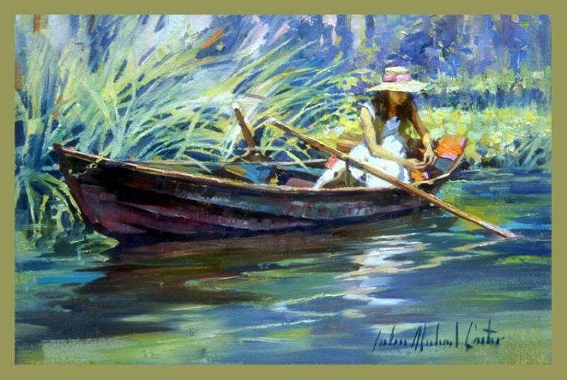 лодка на берегу стих