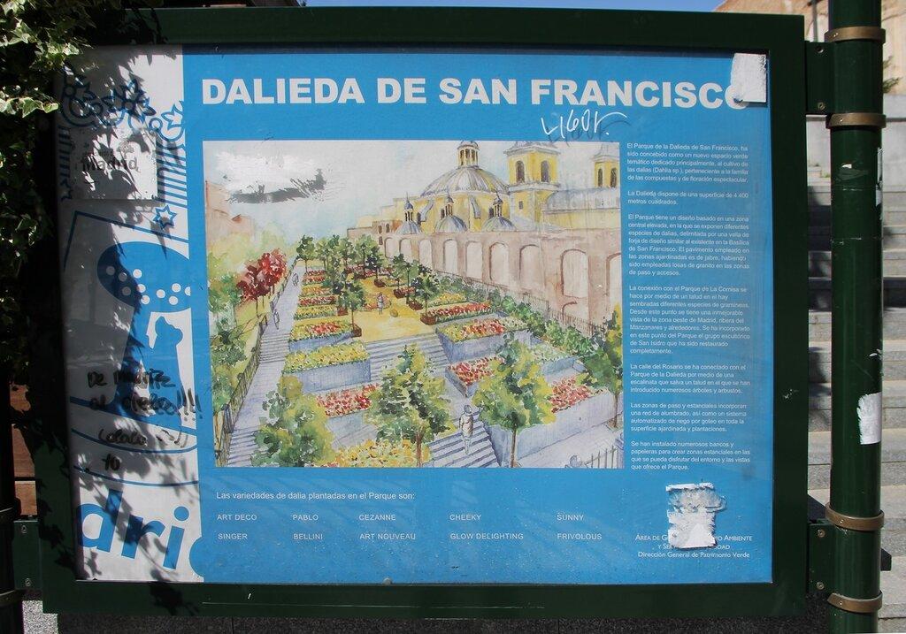 Madrid. Dalieda San Francisco Park, Dahlia Park