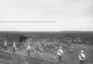 Форсирование укрепленного рубежа во время полевых учений батальона в Усть-Ижоре.