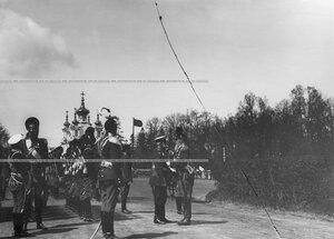 Великий князь Михаил Николаевич - шеф полка на параде в день храмового праздника  Конно-гренадерского полка .