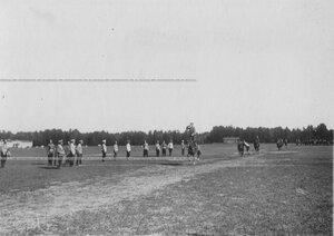Вольтижировка казаков полка на ипподроме в Красном селе.