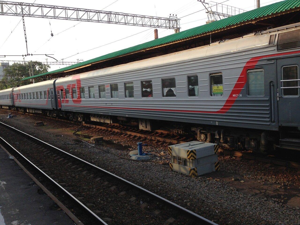Фото поезда владикавказ 3