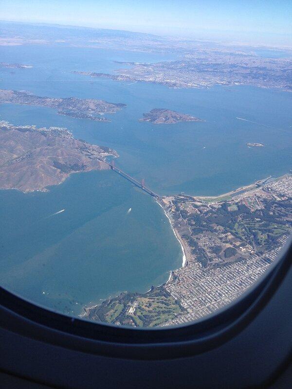 golden gate san francisco, plane view