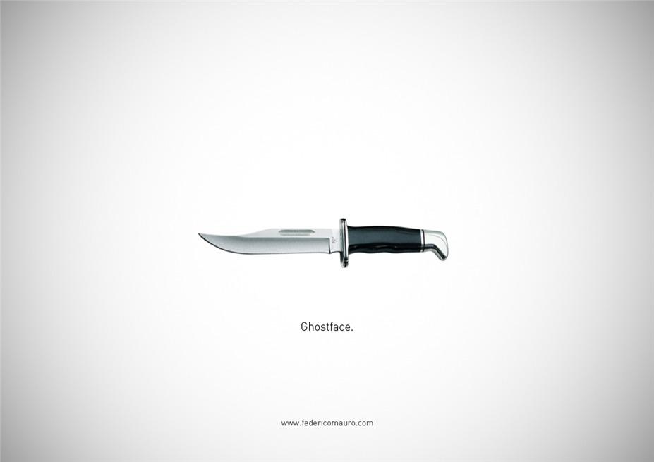 Знаменитые клинки, ножи и тесаки культовых персонажей / Famous Blades by Federico Mauro - Ghostface