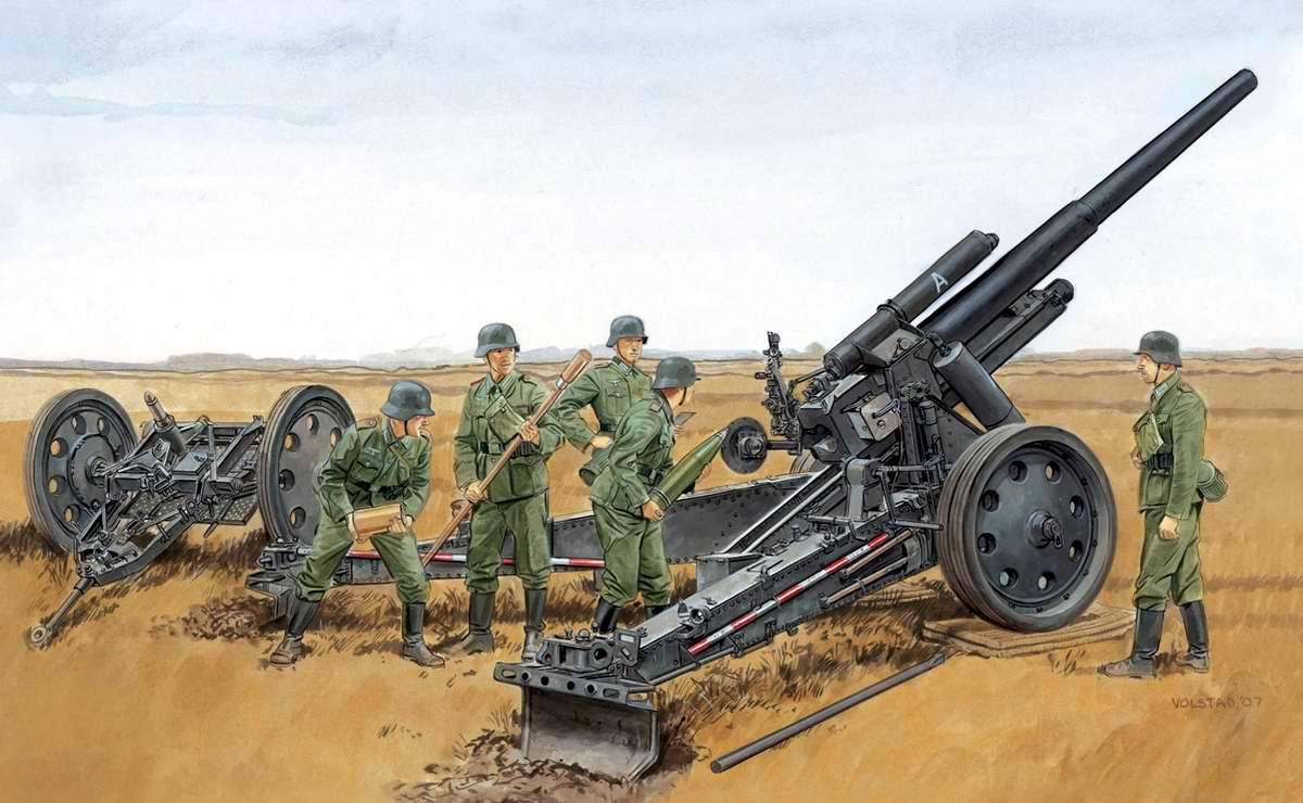 Немецкая тяжелая гаубица 15 cm sFH 18 (Ron Volstad)