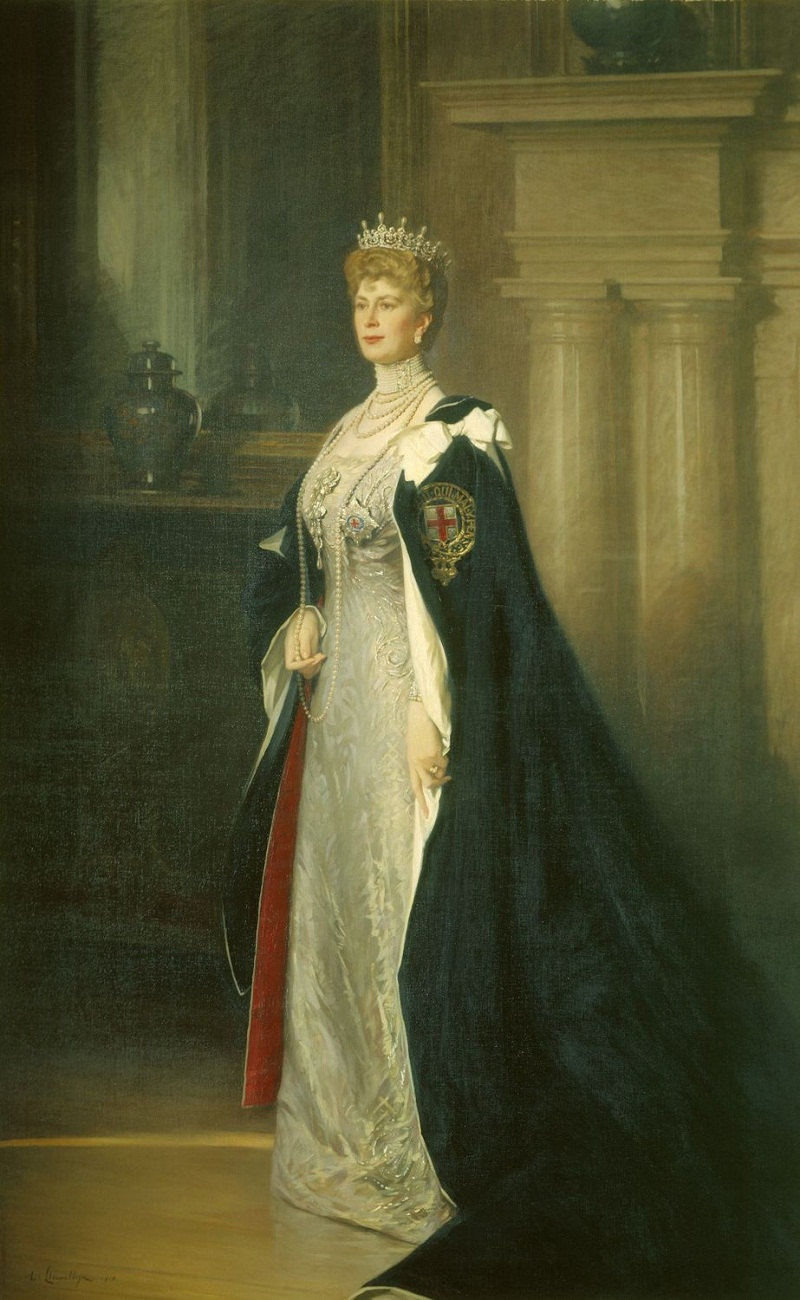 Sir William Samuel Henry Llewellyn (1863-1941) Queen Mary (1867-1953)  Signed and dated 1914