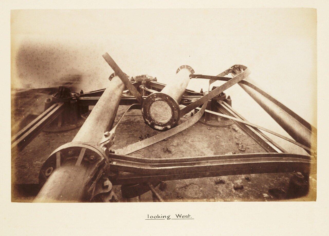 Фотография разрушенного мостового быка