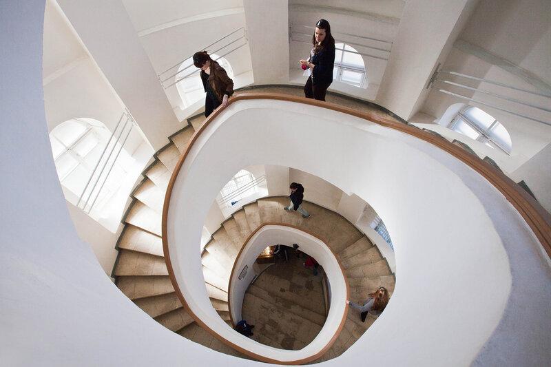 Владимир - музей Старого Владимира - винтовая лестница - подъем на смотровую площадку