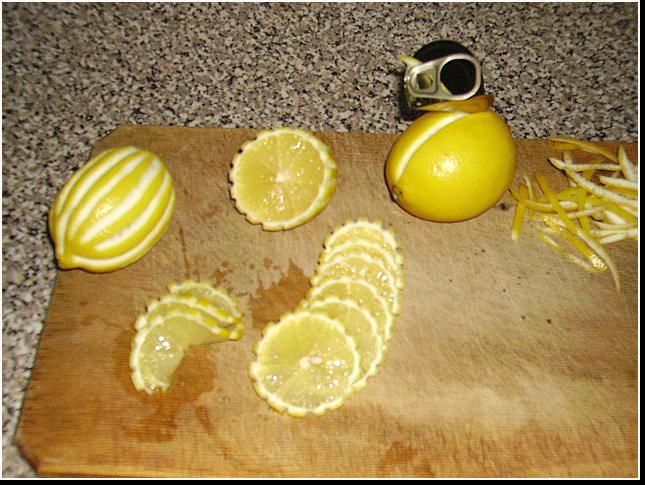 украшение блюда лимоном