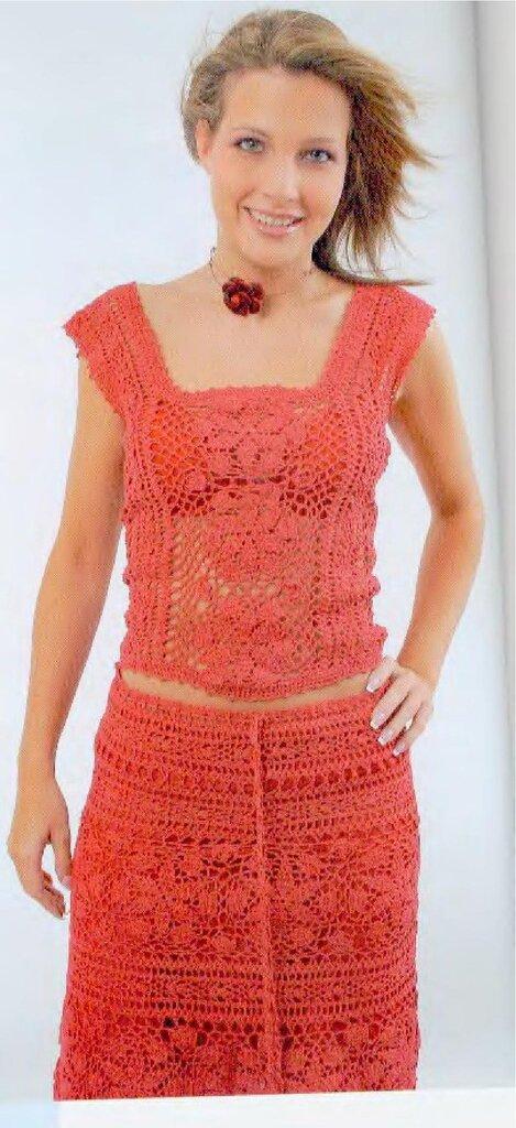Вязание крючком.одежда женская