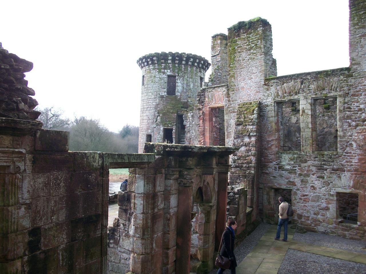 Обои Caerlaverock Castle, scotland, руины, замок. Разное foto 14