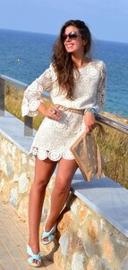 Ажур мотивами-платье крючком от ZaRa