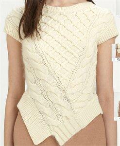 Вафельные араны от Carven - свитер спицами уголком