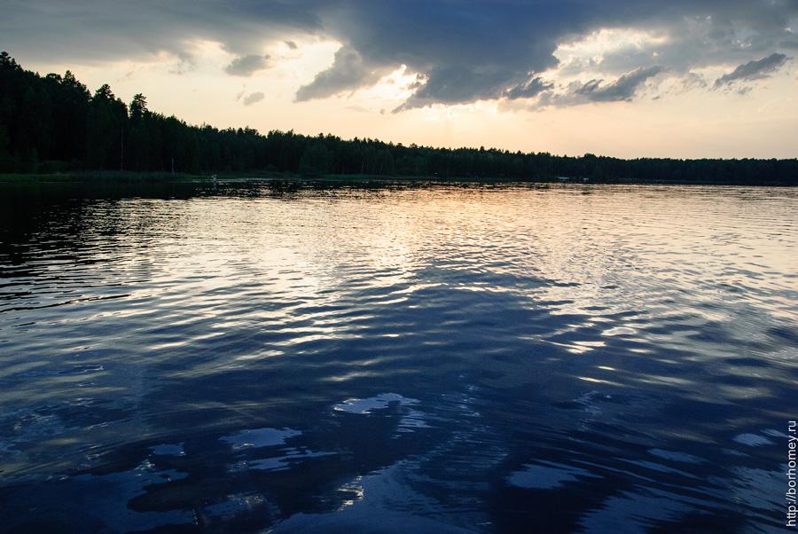 закат на озере Протяжное