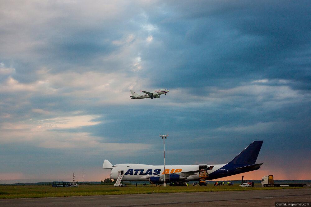 Первый визит грузового Боинга 747 в Челябинский аэропорт