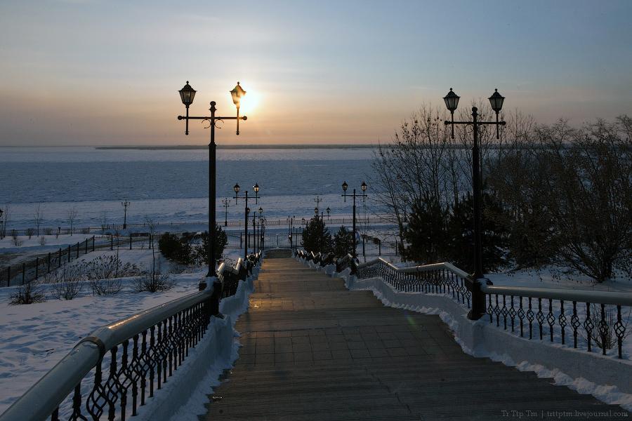3. На берегу замёрзшего Амура.