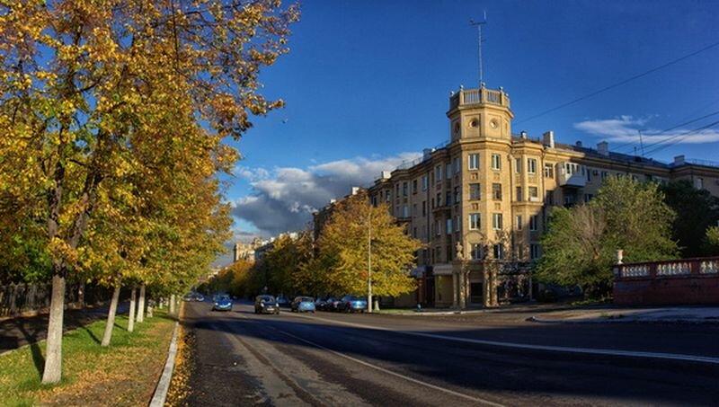Центральная улица Магнитогорска (24.07.2013)