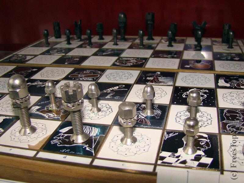шахматы из болтов и гаек