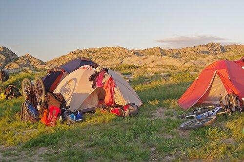 Лагерь стоянка на Бухтарме 2013