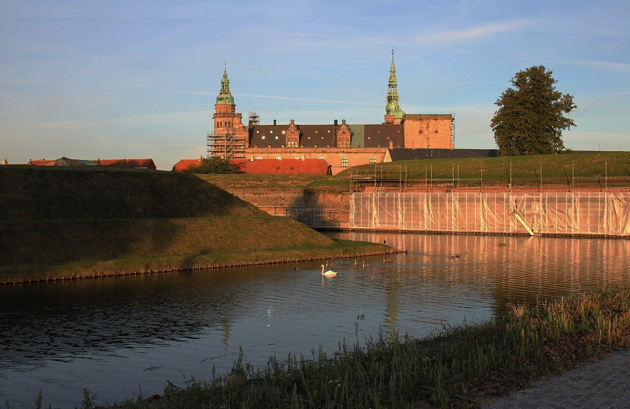 the Castle of Kronborg. Elsinore, Hamlet. Kronborg Slot. Kronborg castle.