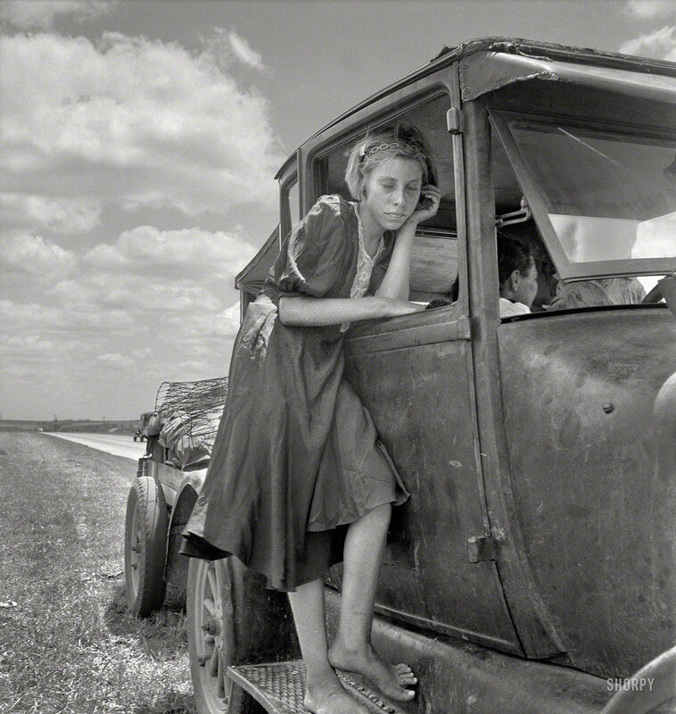 June 1937. Child of Texas migrant family who follow the cotton crop from Corpus Christi to the Panhandle