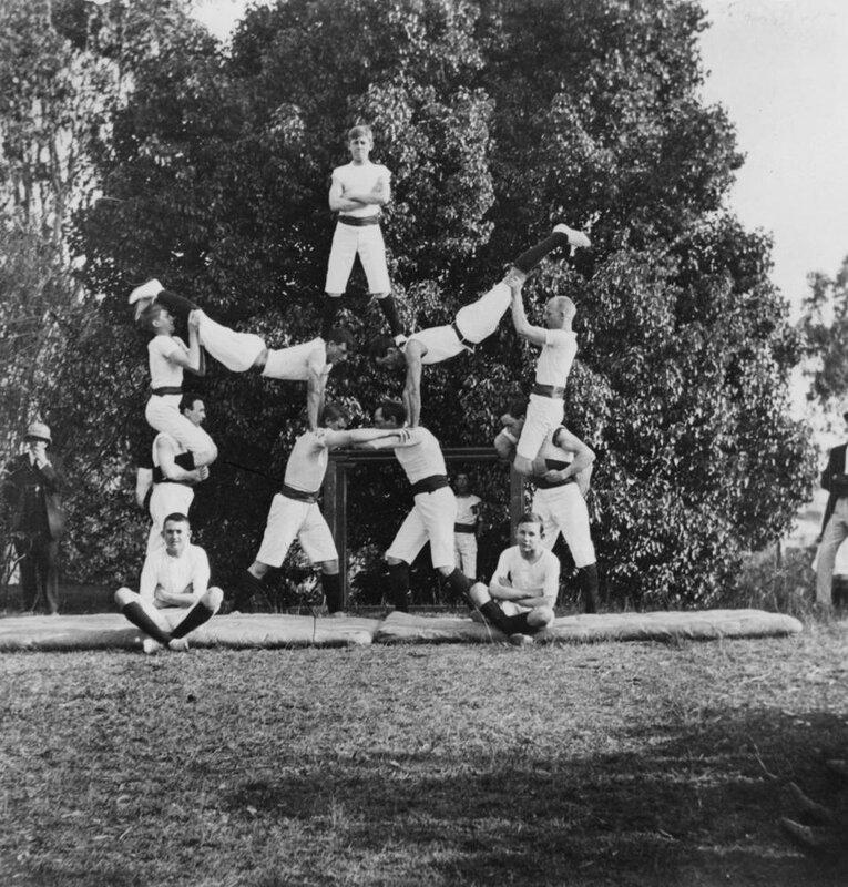 Christ Church Gymnasts at the Milton Patriotic Fair, September, 1915
