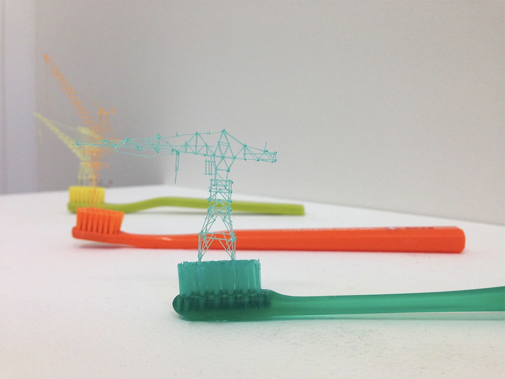 Incredible Miniature Towers made from Toothbrush Bristles (8 pics)